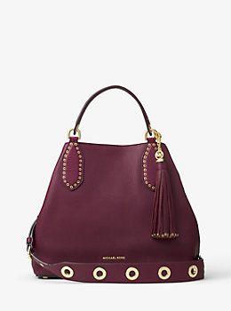 a04b0e9706d2 Brooklyn Large Leather Shoulder Bag by Michael Kors