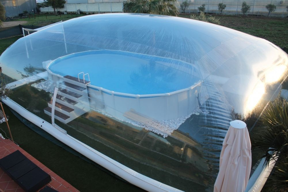 39x19x10Ft Inflatable Hot Tub Swimming Pool Solar Dome