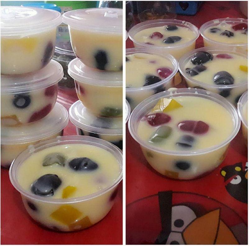 Resep Cara Membuat Pudding Jelly Tepung Custard Puding Pudding Desserts Custard