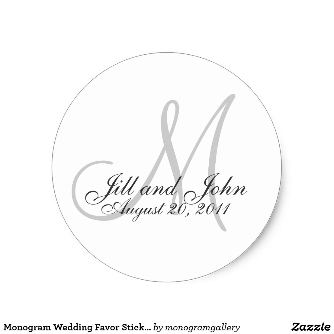 Monogram Wedding Favor Sticker | Favors, Wedding and Weddings