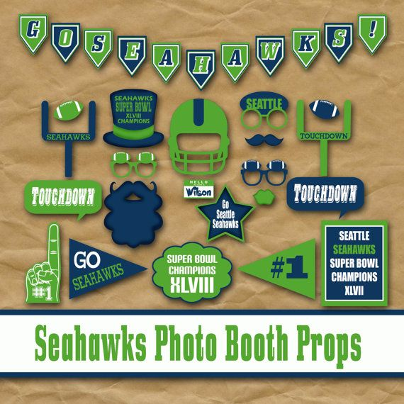 Seattle Seahawks Photo Booth Props