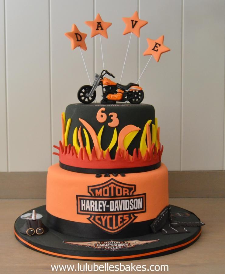 Harley Davidson Cake by Lulubelles Bakes Cakes Cake Decorating