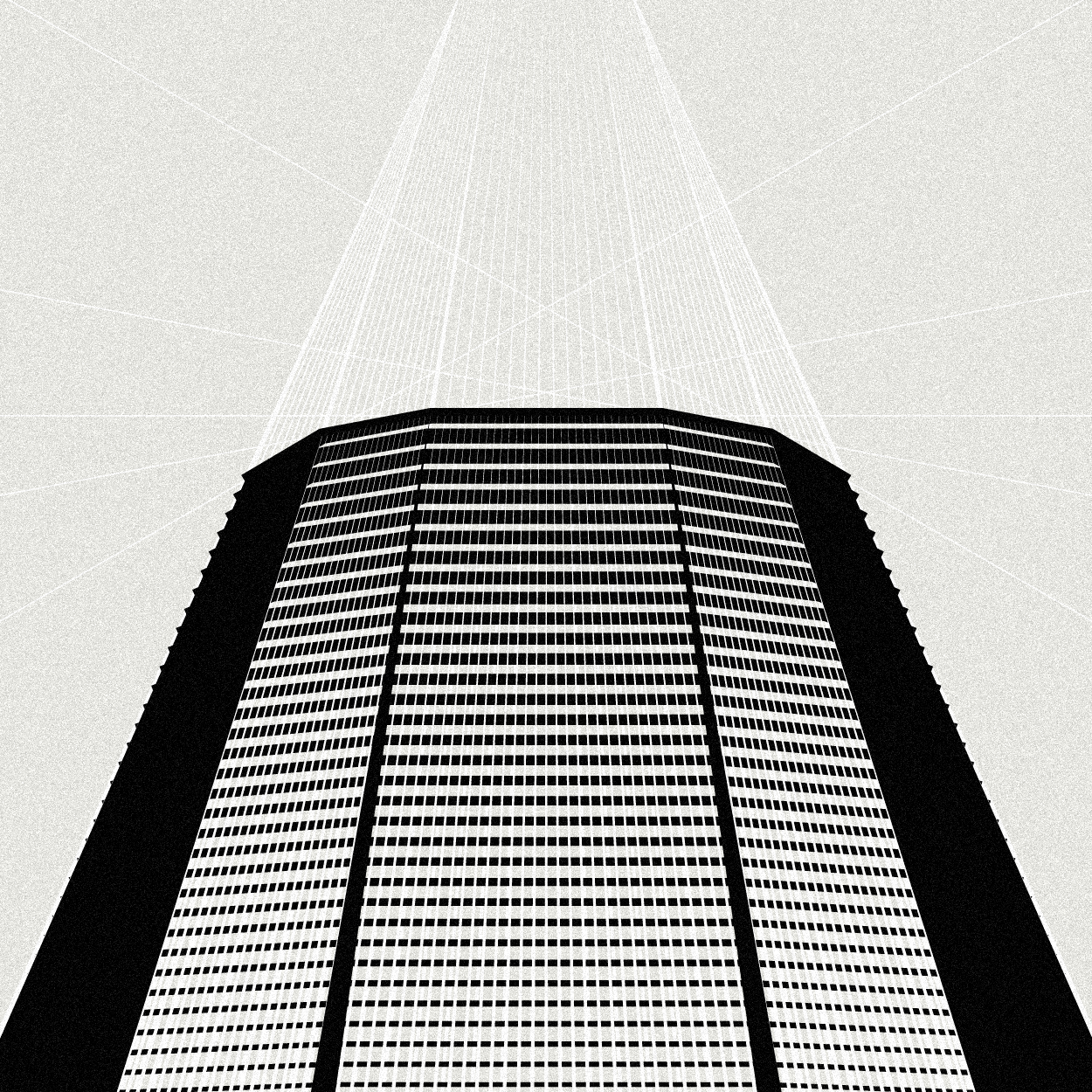 minimalistic vector illustrations of architectures.