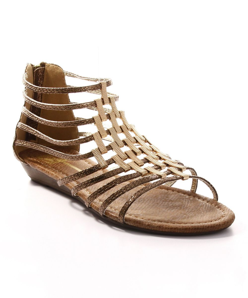 Bronze Samantha Wedge Sandal | something special every day