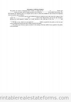 Agreement As To Division Of Expense0001 Real Estate Forms Word Template Legal Forms