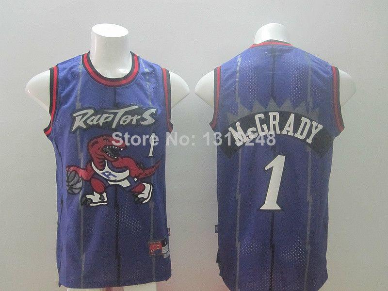 4e106d3aa13 ... Stitched Throwback Basketball Jerseys White Violet Free Shipping Online  Sale NBA Jerseys - Authentic Toronto Raptors Tracy McGrady Purple Swingman  ...