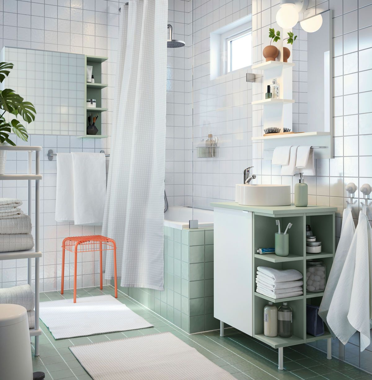 IKEA Bathroom Brochure 2018 Open shelve for basin storage | Home ...
