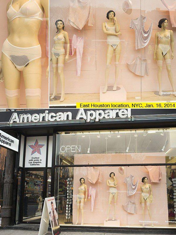 La dernière provoc' d'American Apparel: des poils pubiens sur les mannequins en vitrine
