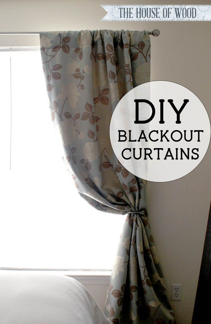 Diy blackout lined curtains tutorials woods and easy