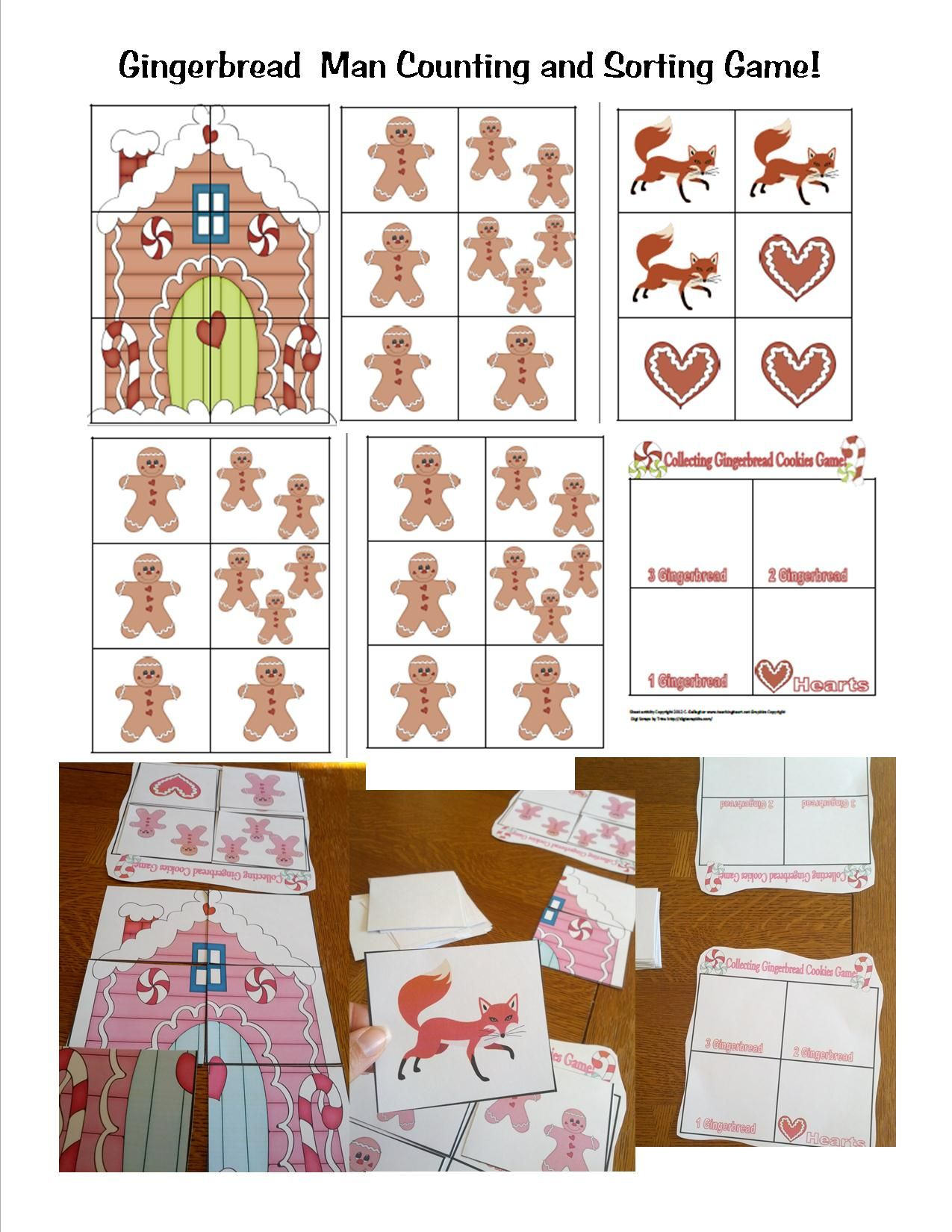 Gingerbread Counting Game