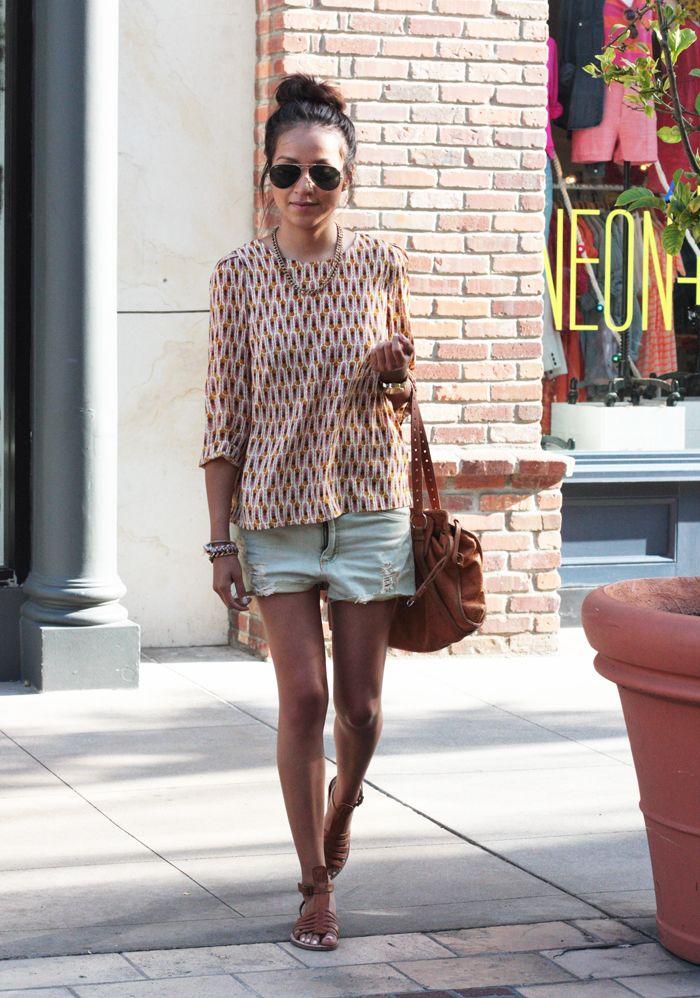 Boyfriend Style Denim Shorts