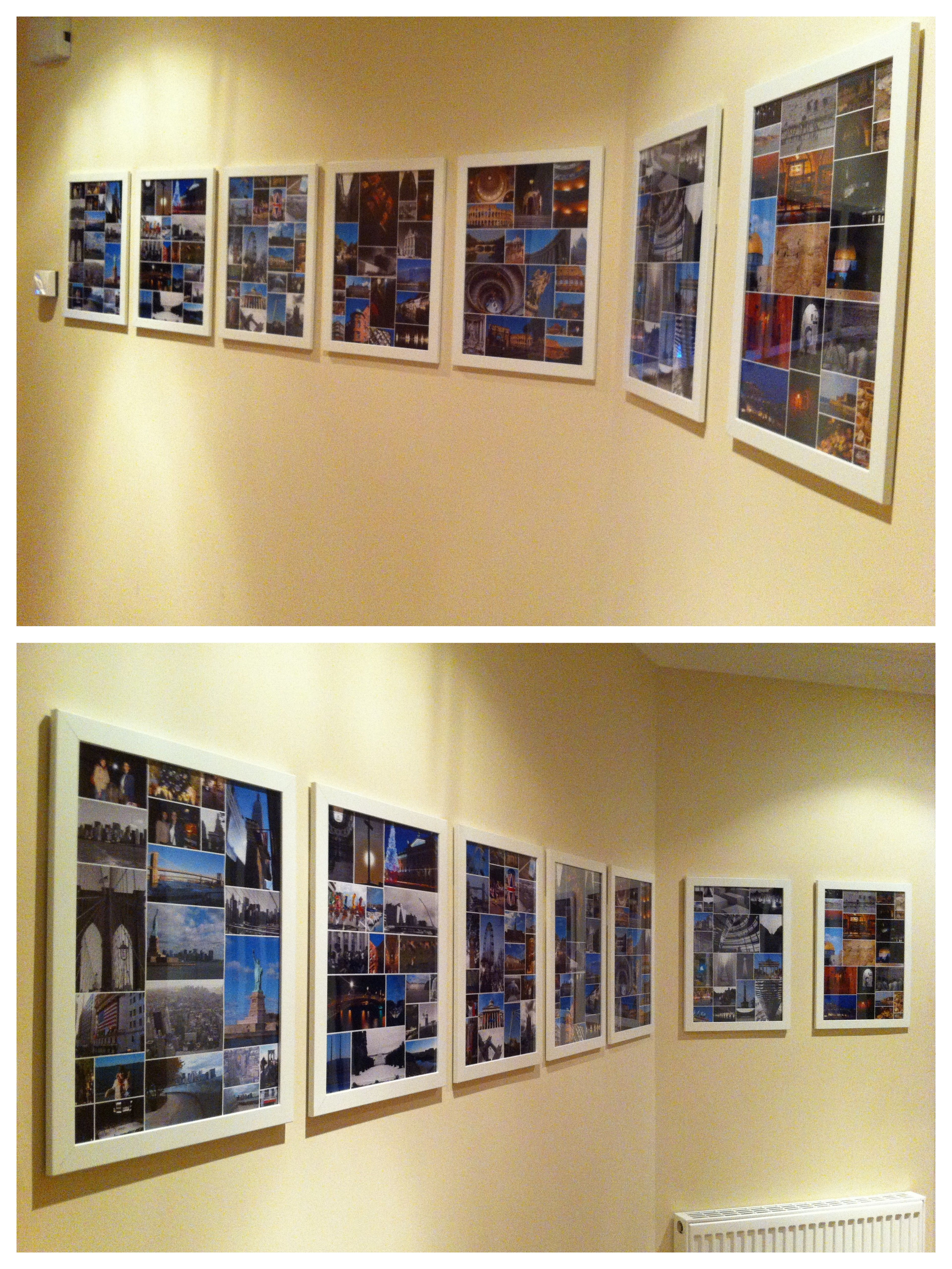 Holiday photo collages in Ikea frames | Room / Wall Decor Ideas ...