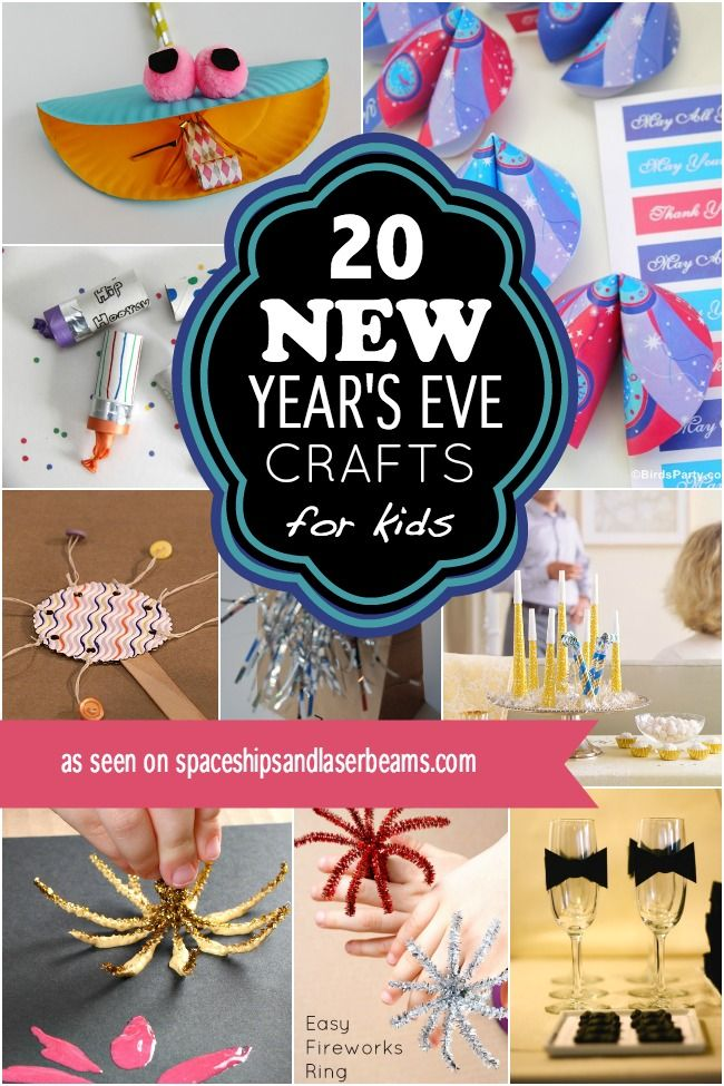 20 New Year's Eve Crafts & Ideas for Kids New year's eve
