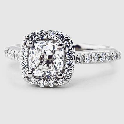 14K Rose Gold Fancy Diamond Halo Ring (1/3 ct. tw.)