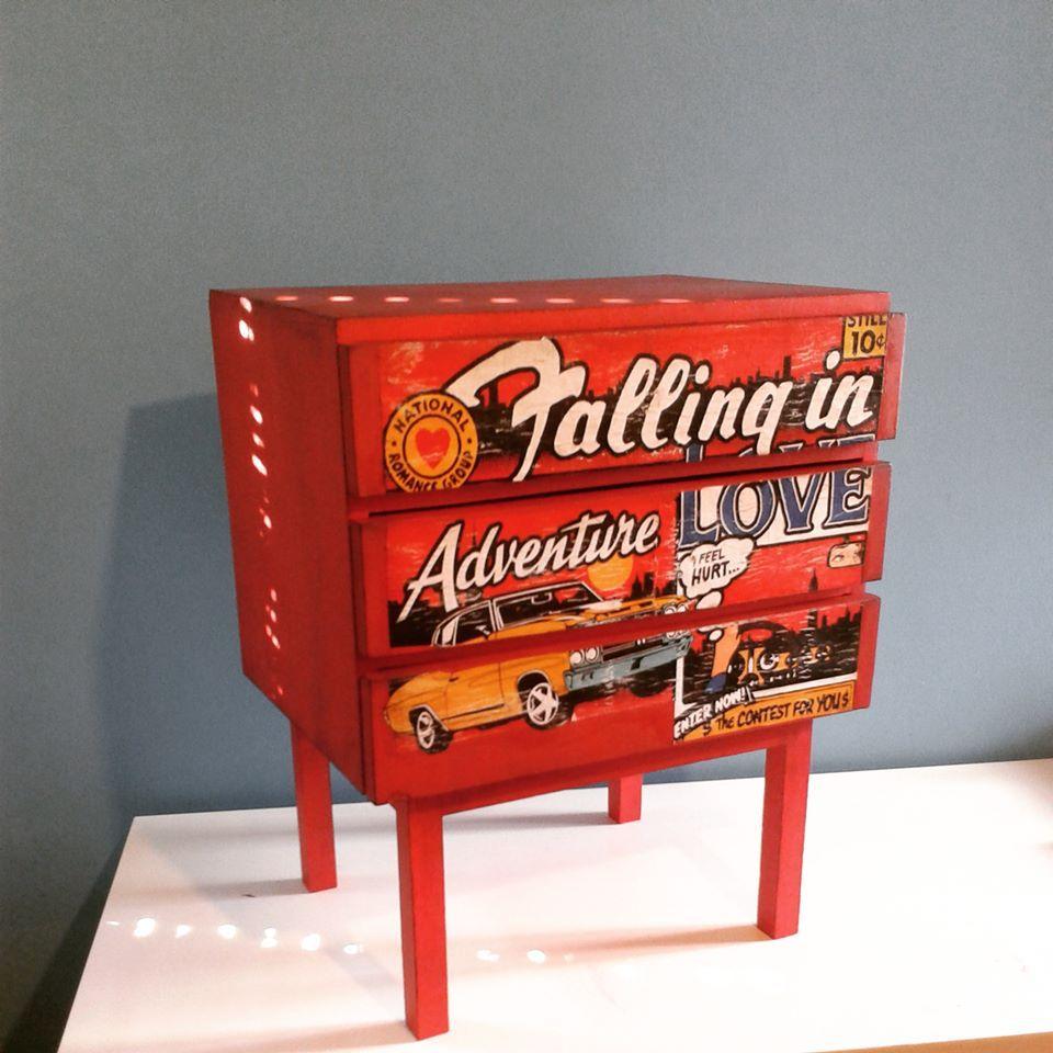 Pop art furniture makeover by Piccolaketi