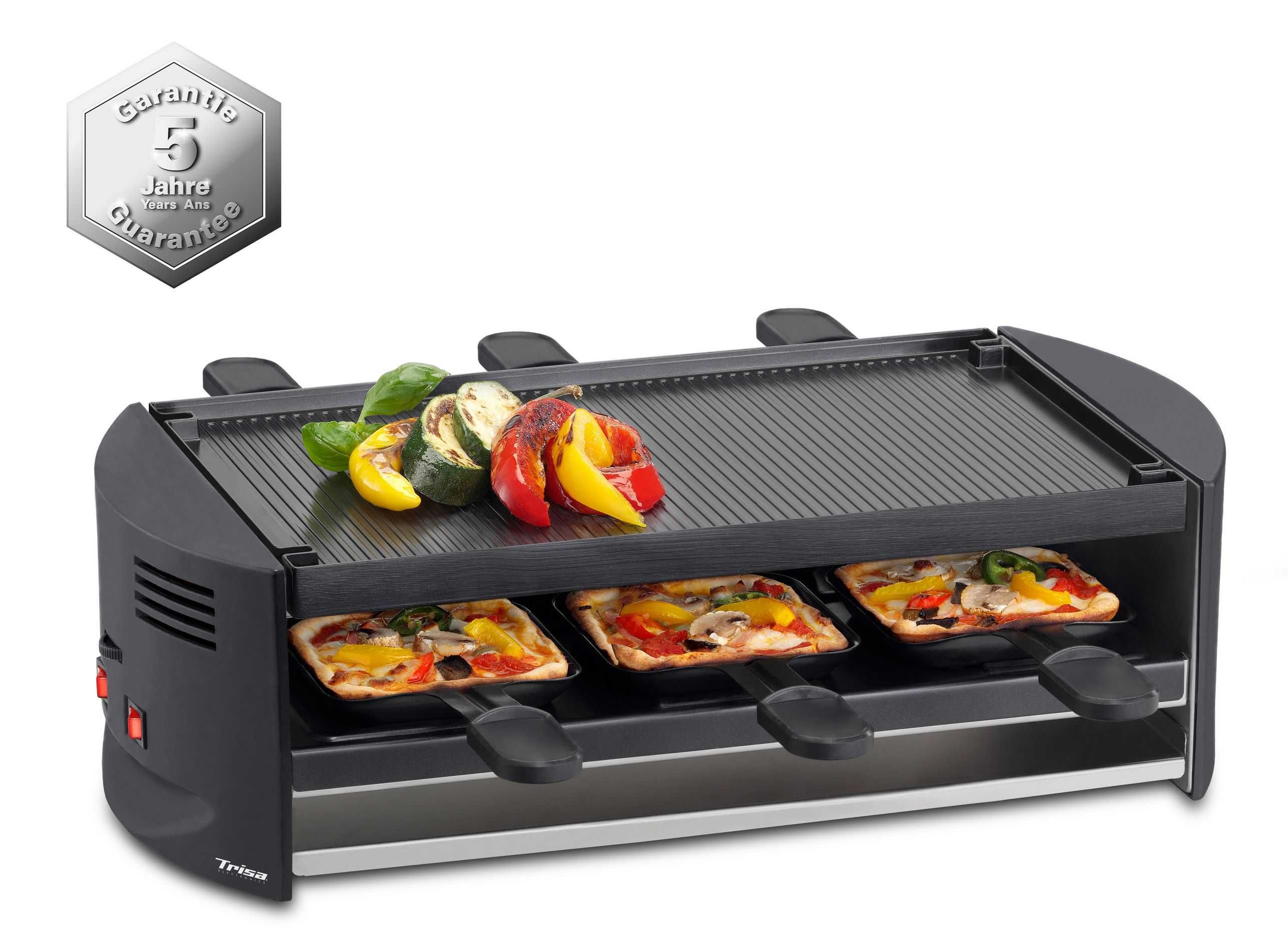 Trisa Pizza Grill Pizza Raclette Perfect 6 Personen Günstig Kaufen Raclette Grill Trisa 7590 4245 F Pizza Raclette Pizza Raclette Ofen