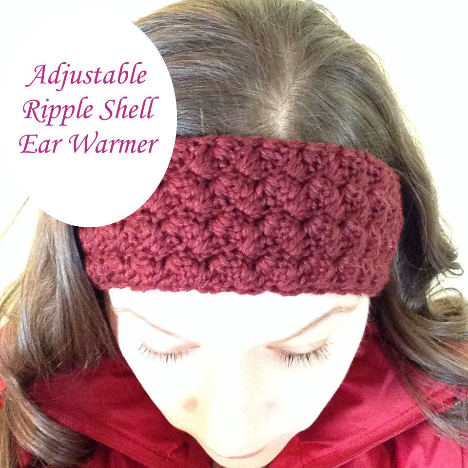 Ripple Shell Ear Warmer - free crochet pattern by Cathryn Sheeran ...