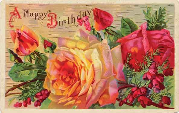 Lovely rose card BIRTHday BLESSings Pinterest – Victorian Birthday Cards