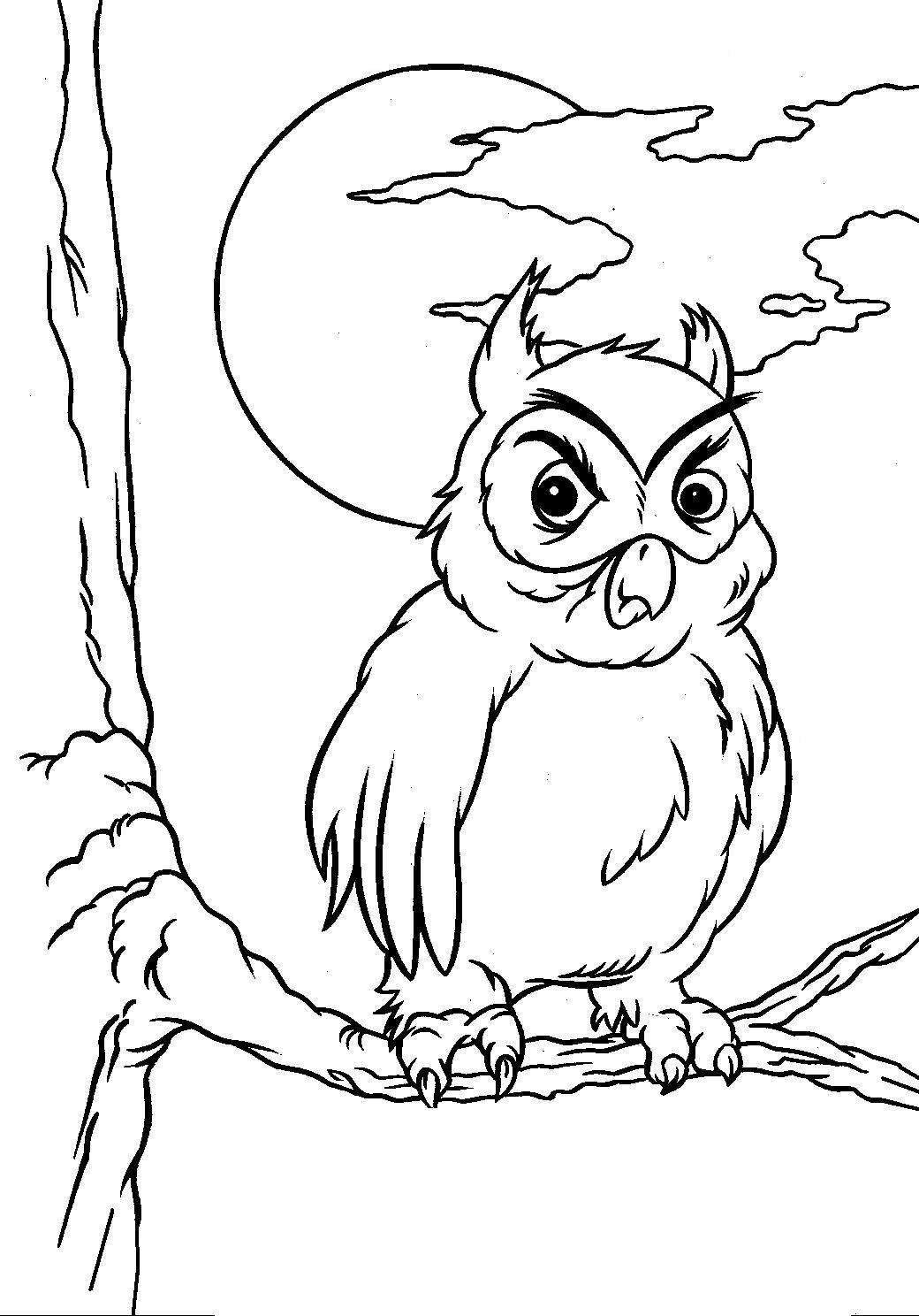 Halloween Coloring Pages Halloween Owl Coloring Pages For Kids
