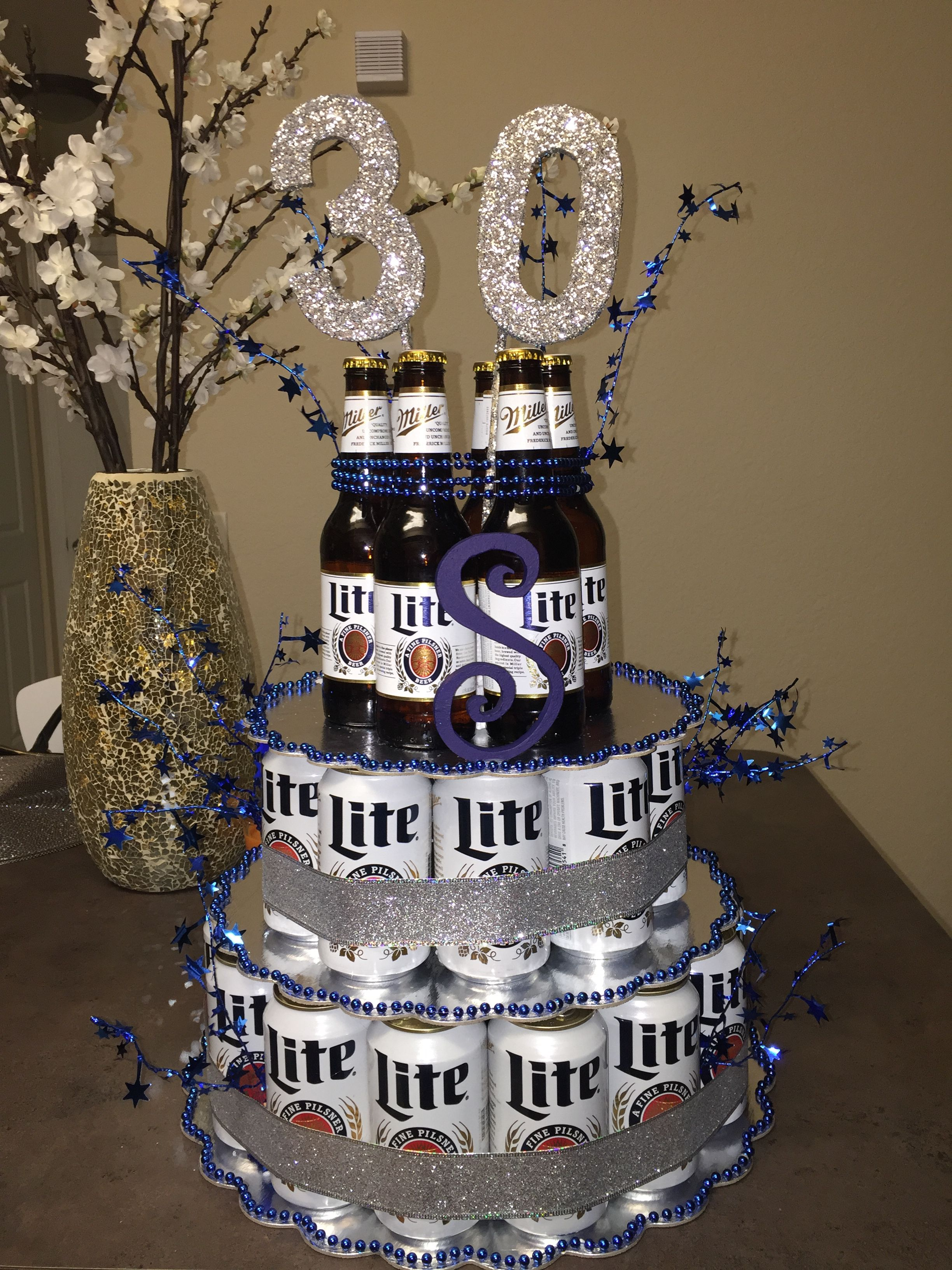 beer cake i made for boyfriends 30th birthday beer cake pinterest geschenkideen 30. Black Bedroom Furniture Sets. Home Design Ideas