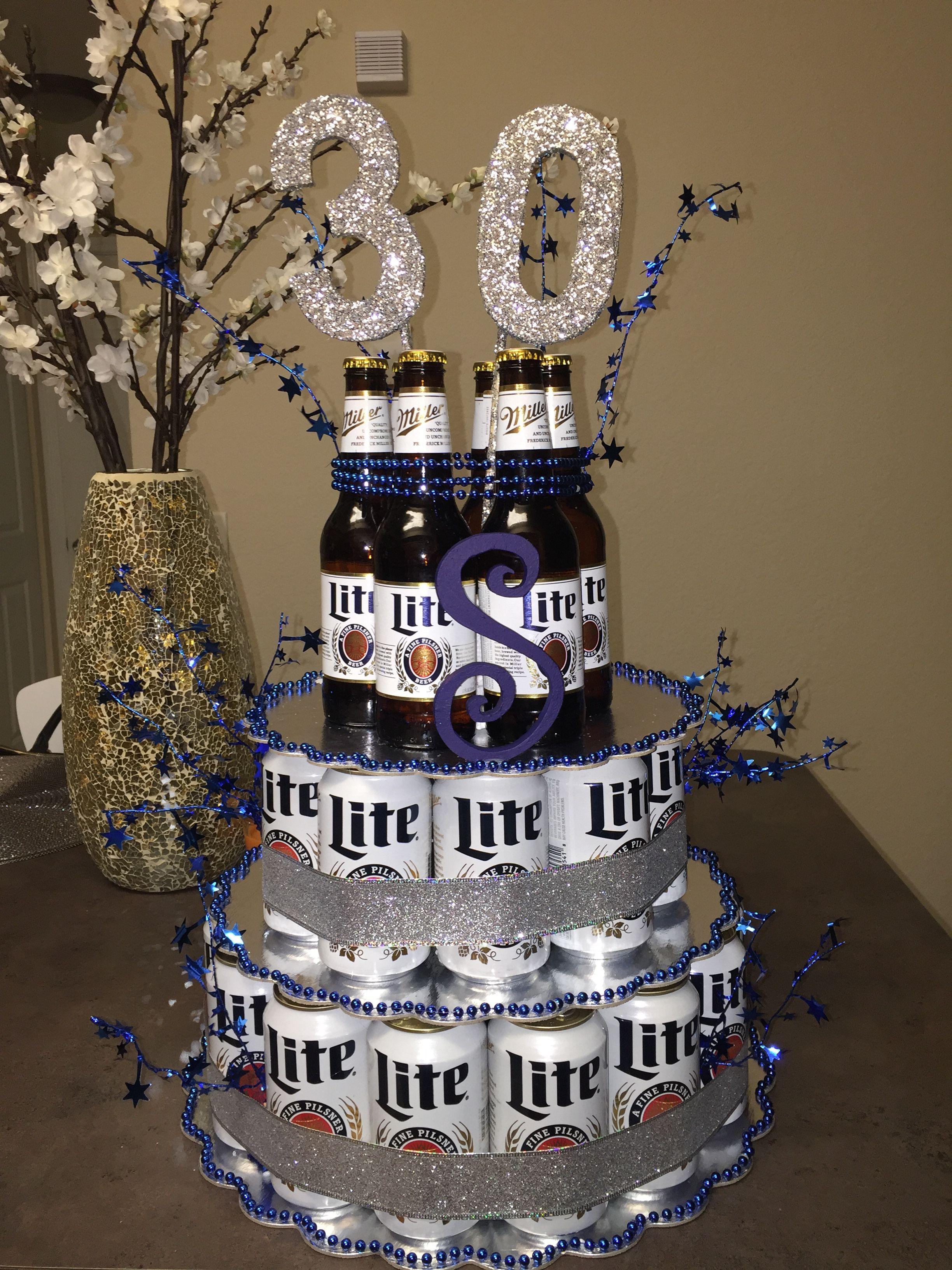 Beer cake i made for boyfriends 30th birthday beer cake