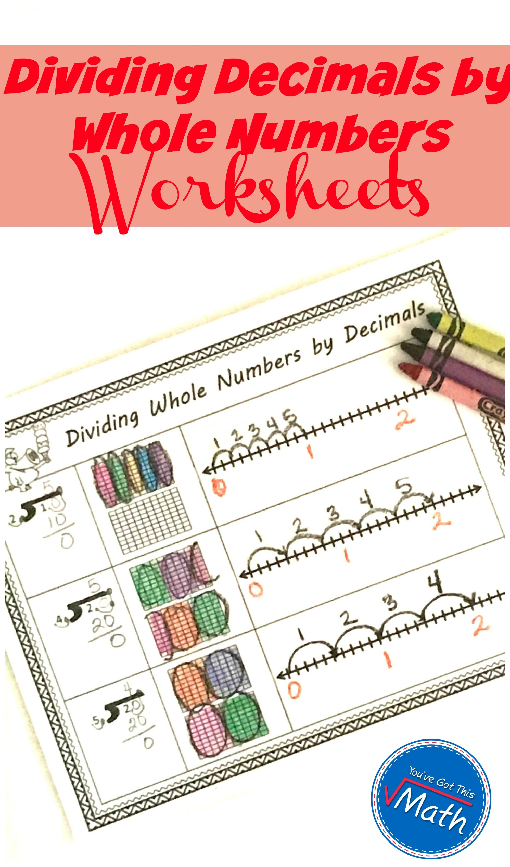 Dividing Decimals By Whole Numbers Worksheets