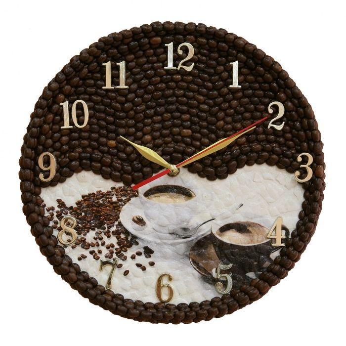 Часы своими руками из зерен кофе