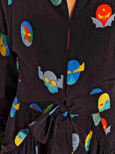 379e7423df787 Close up of Stella McCartney Monia superhero-print jumpsuit | drag ...