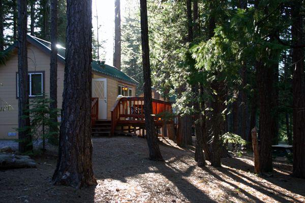 Lake Siskiyou Camp Resort Cabins Mt Shasta California USA