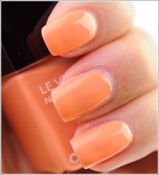 It's all about tangerine for 2012 - try Chanel June for a pop of orange on the nails that's not too intense