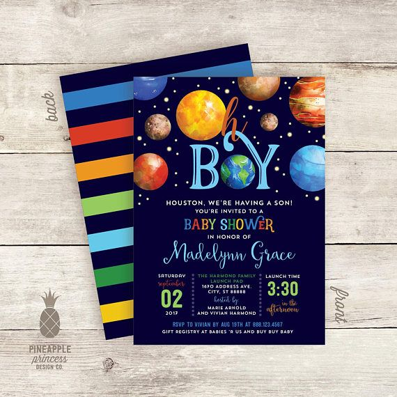 love this outer space themed baby shower invitation design follow the steps below to make it yours please be sure to read through all of the details in