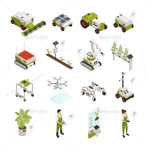 Smart Farming Icon Set
