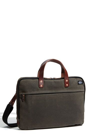 078fdc268f Jack Spade slim waxed canvas briefcase