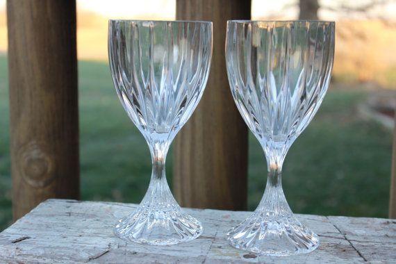 Mikasa Park Lane Leaded Crystal wine glasses  by polkadotsandcurls