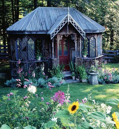 Jo Says Victorian Garden Shed Would Make An Awesome Craft Studio Crafting Gardening Generally Being Awe Victorian Garden Cottage Garden Victorian Gardens
