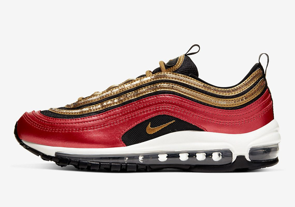 Nike Adds Golden Sequin Tracks To The Air Max 97   Nike, Air