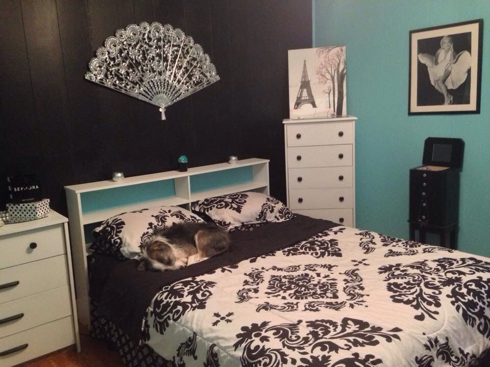 My Tiffany & Co inspired bedroom! All the furniture I purchased ...