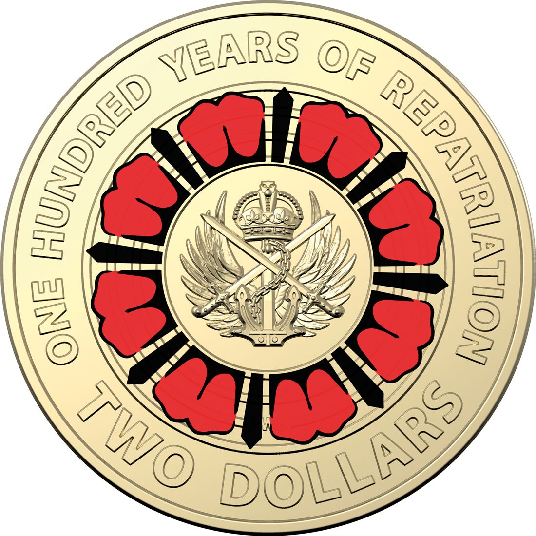2017 Australia $2 UNC Coin Lest We Forget RAM MINT ROLL