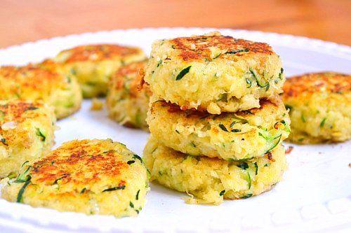 Zucchini Cakes by justputzingaround: Tender, flavorful and relatively healthy! #ZucchiniCakes #justputzingaround