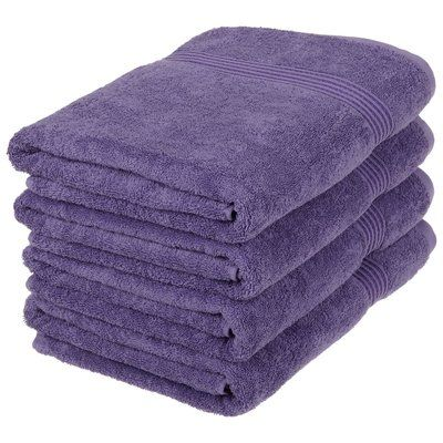 The Twillery Co Patric 4 Piece Egyptian Quality Cotton Bath Towel Set Bath Towels Bath Towel Sets Towel Set