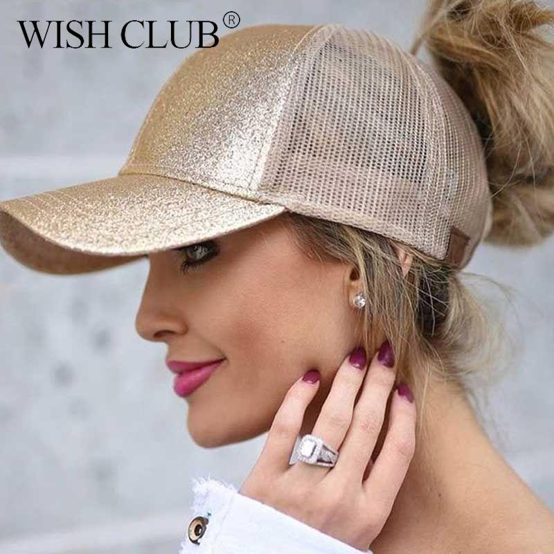 Encontrar Más Gorras de béisbol Información acerca de Caballo informal gorra  de béisbol mujeres Snapback ajustable sombrero lentejuelas Shine Hip Hop  gorras ... e4bd6dc0b8f