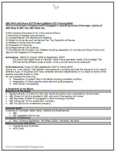 Sarkari Naukri Resume Sample Free Download Doc 2 Resume Resume Format Abc