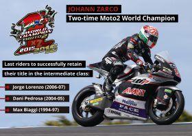 Moto2: Johann Zarco, o primeiro bicampeão do Mundo