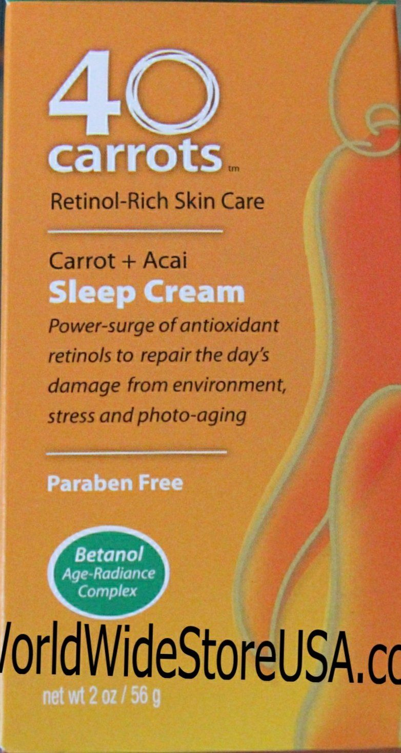 40 Carrots Retinol Rich Skin Care Carrot Acai Sleep Cream 2oz This Is An Amazon Affiliate Link For More Information Visit Im With Images Retinol 40 Carrots Skin Care