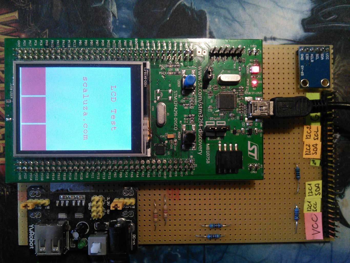 Initialization of ILI9341 TFT LCD screen with STMPE811 resistive