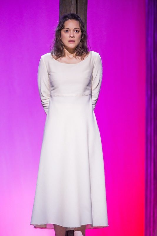 """Marion Cotillard in the title role of Honegger's """"Jeanne d'Arc au Bûcher"""" presented Wednesday night (06/11/2015) by the New York Philharmonic. Photo: Chris Lee (533×800)"""