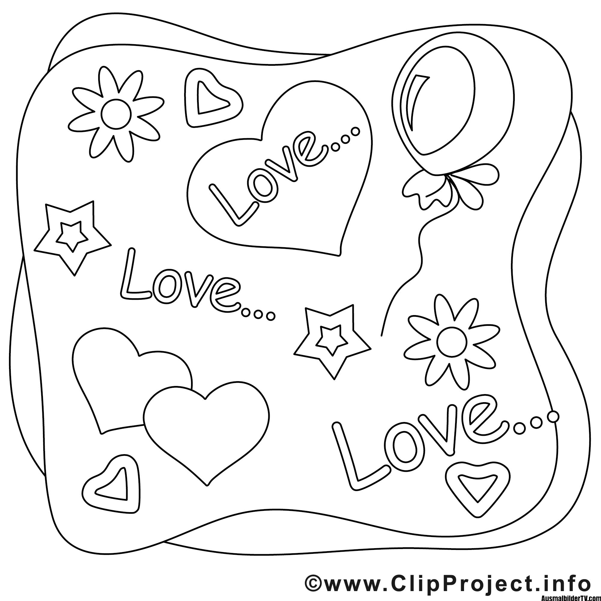 Love Ausmalbild - 1Ausmalbilder.com   Ausmalbilder ...