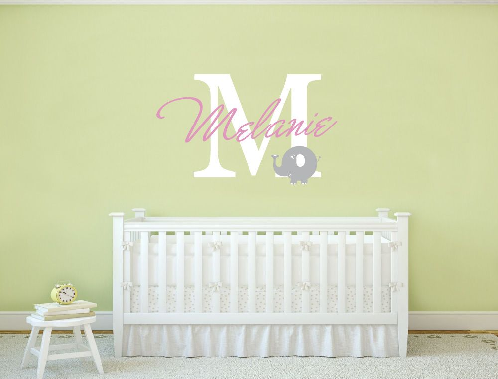 Name sticker for wall monogram | Nursery wall decor, Wall decals and ...