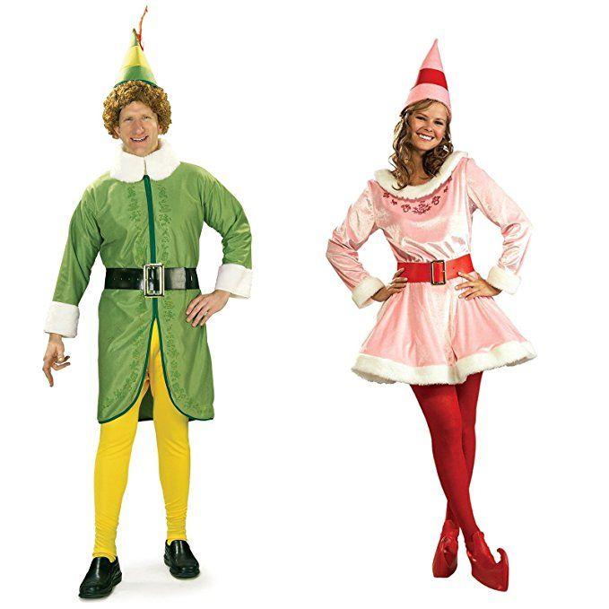 Buddy the Elf and Jovi Couples Costume Bundle Set Halloween Costumes - his and her halloween costume ideas
