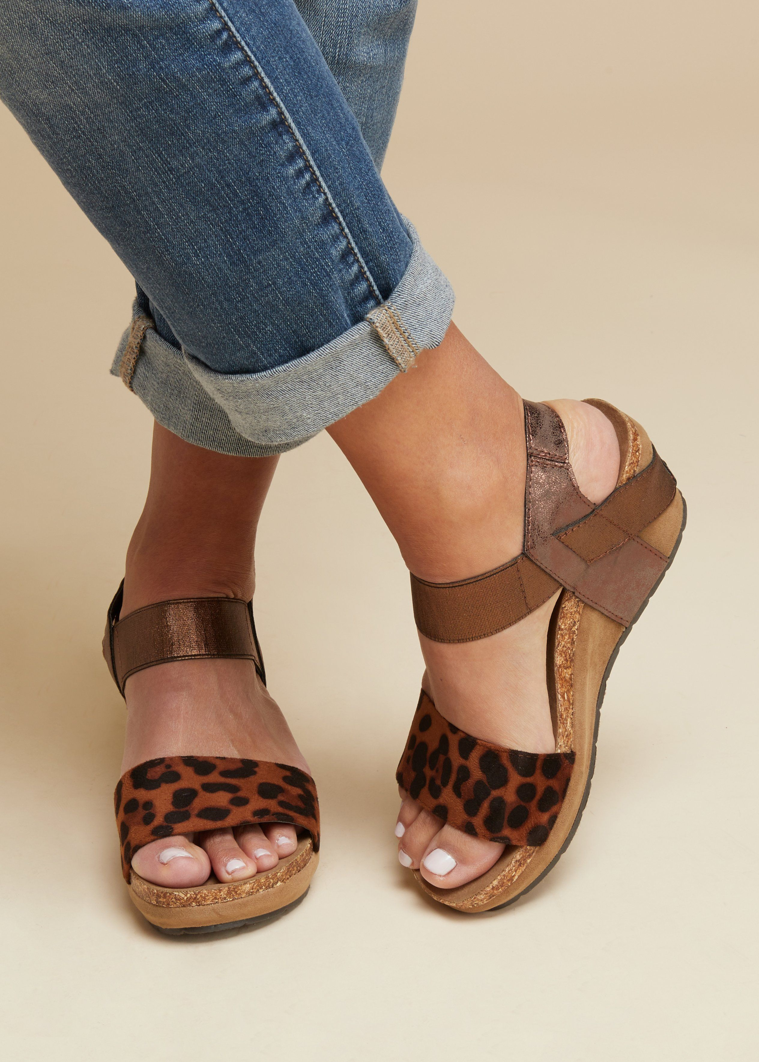 Wedge In Aleah Leopard Sandal 2019Products ShoesSandals Okn0Nw8XZP